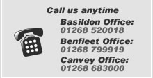 Call us on 01268 683000